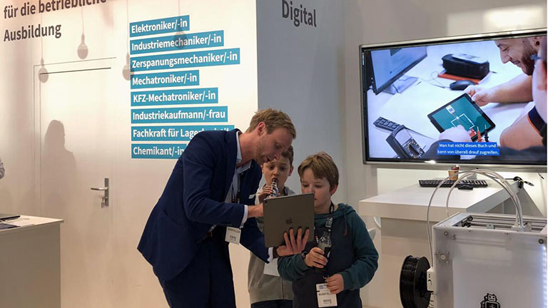 Learntec 2019 – Kinder am Stand